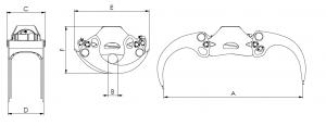 KESLA – Hidrauliniai manipuliatoriai / Kranai ProG E griebtuvu matmenys 300x116